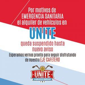 Unite se toma un descando de sus servicios por emergencia sanitaria
